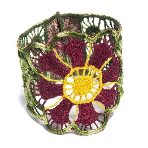 Here's a little twist to traditional Mayan embroidery! This Fabric Flower Bracelet provides employment & income for women in the Yucatan. Who says style and ethical business can't go hand in hand? Go #FairTrade! $32