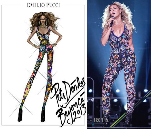 Beyonce Knowles In Emilio Pucci � Mrs Carter Show World Tour