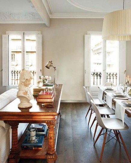 Arredamento antico e moderno - Giusta combinazione fra arredi moderni e antichi per un ambiente di design.