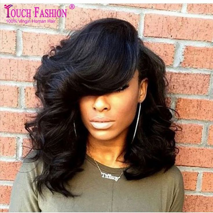 112.27$  Buy here - http://ali99b.worldwells.pw/go.php?t=2047623142 - 100% Peruvian Virgin Human Hair Short Lace Front Wigs For Black Women 130% Heavy Density Front Lace Wig Wavy With Baby Hair