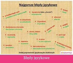 Błędy językowe :