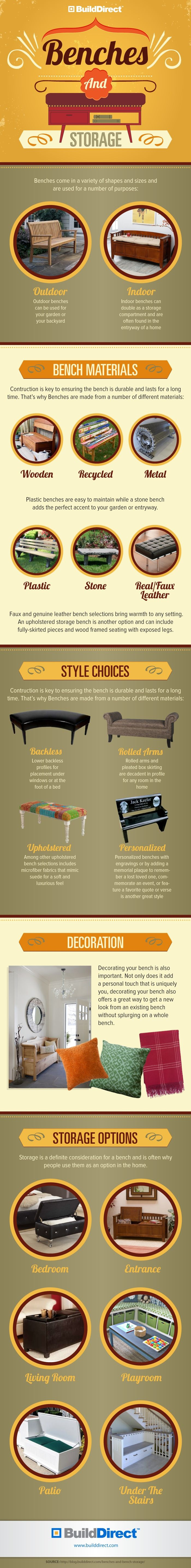 BuildDirect.Benches Best Benches and Storage: Serenity, Comfort, Personality