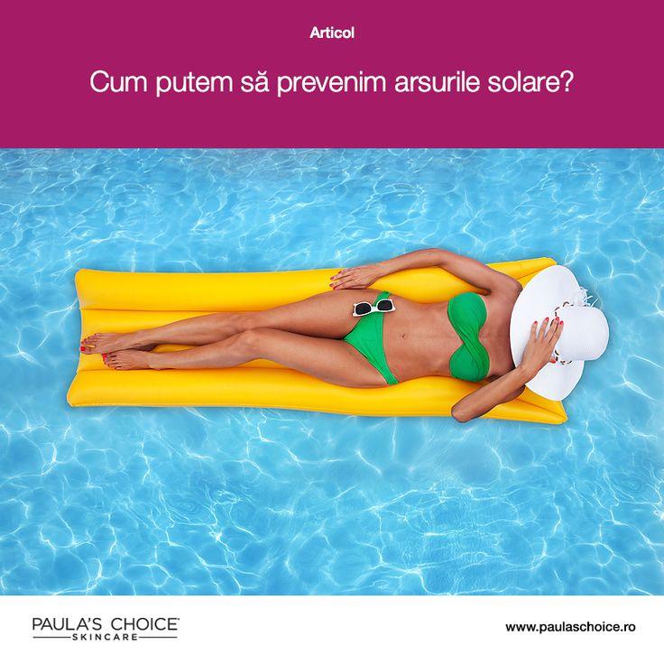 Fie că s-a întâmplat în vacanță la mare, fie la piscină sau pur și simplu după o ieșire prelungită în aer liber, cu toții am suferit la un moment dat arsuri solare. Pe lângă faptul că arsurile solare reprezintă o experiență neplăcută și dureroasă, ele sunt extrem de nocive pentru sănătatea pielii noastre. Află cum poți să previi arsurile solare