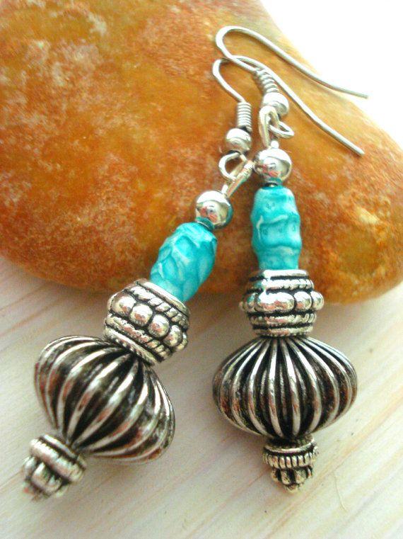 Yoga Earrings  Ethnic Earrings  Boho Jewellery  Nepal by Gnosticos, $25.00