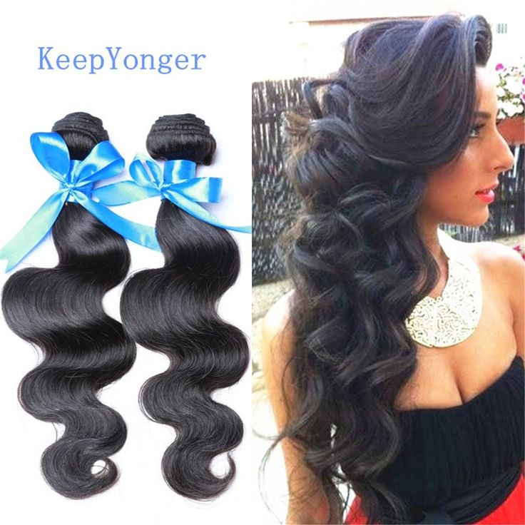 Klemmer Lover® Top Unprocessed 7A Peruvian Virgin Hair Body Wave 3pcs/lot 50g/piece Cheap Human Hair Extensions Body Wave Natural Black Color (8' 8' 10') >>> Read more at the image link. #hairideas