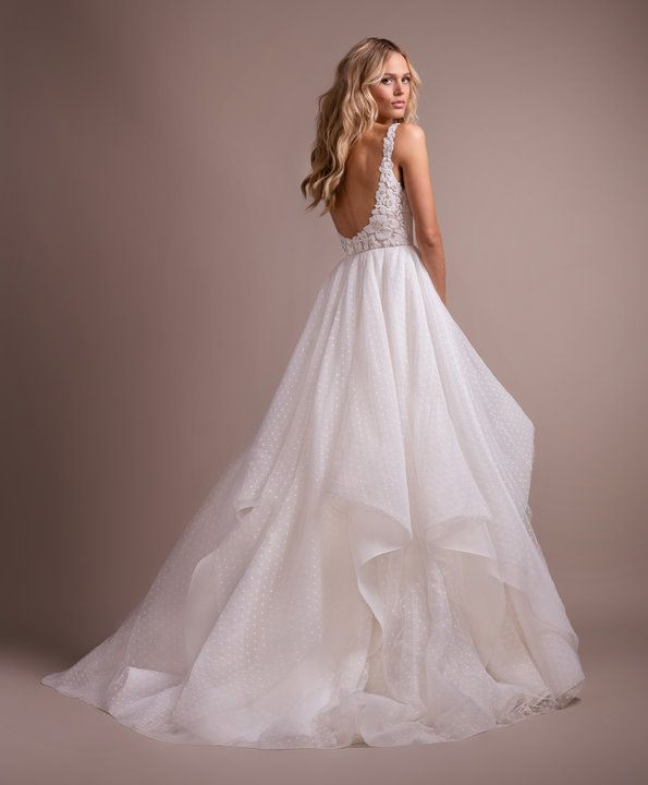 Style 6901 Dylan Hayley Paige Bridal Gown Ivory Swiss Dip And Dot Ball Gown Draped V Neck B Lacy Wedding Dresses Hayley Paige Bridal Ball Gown Wedding Dress