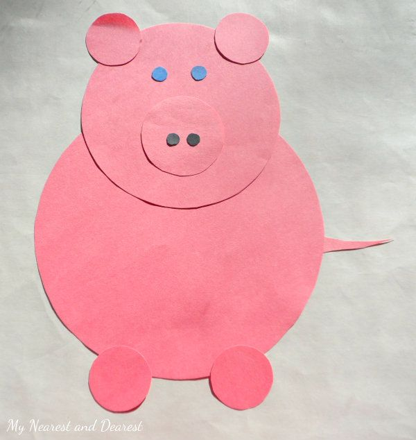 Nursery rhyme crafts for toddlers - shape pig