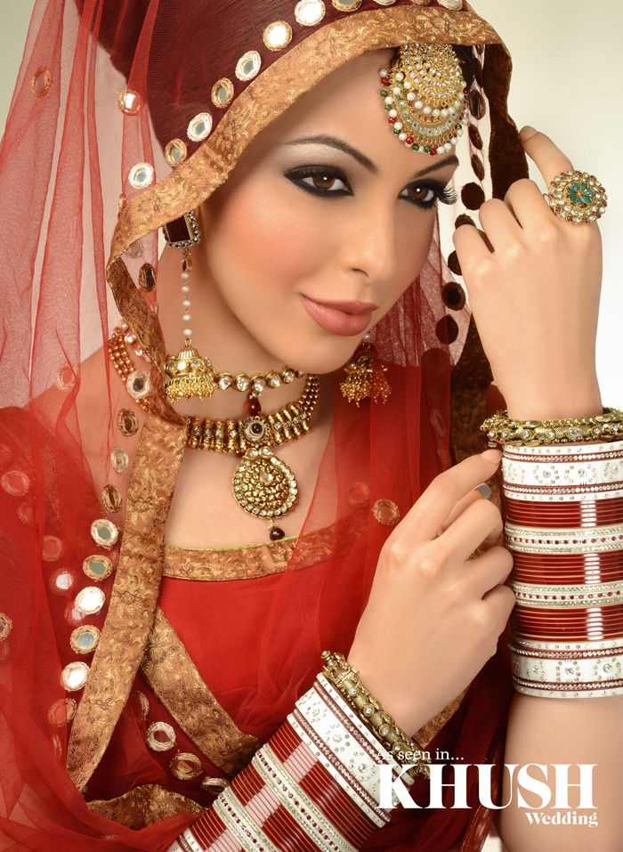 How beautiful is this bridal look by Raji Lall MUA   London based, Nationwide coverage +44(0)7890 282 601 www.Raji-Lall.com  Outfit: Vikas Rattu-Designer Asian Wear Tikka/Earrings: NK Collection Necklaces/Front Bangle: Reeth Bangles/Ring: The Lotus London