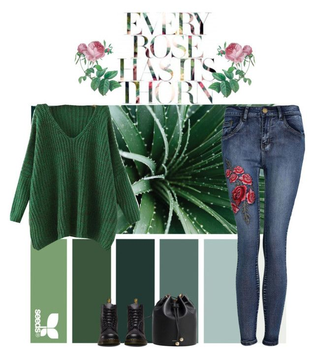 Greens & Roses by shannon415 on Polyvore featuring polyvore, fashion, style, Pilot, Dr. Martens, MANGO and clothing
