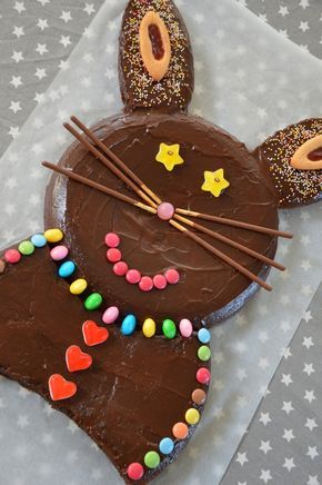 Gâteau lapin au chocolat #recette #enfant #chocolat