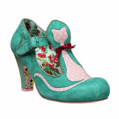 teal floral cat shoes by Irregular Choice (no longer available)... must make my own version!