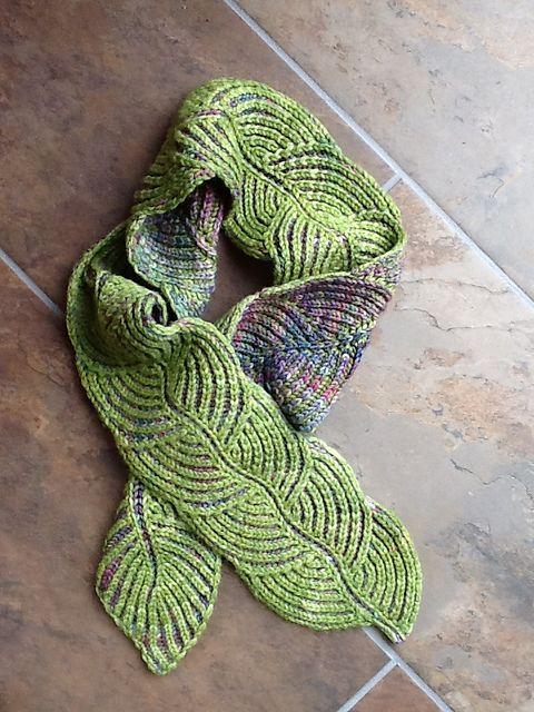 Hosta Brioche Scarf by Nancy Marchant