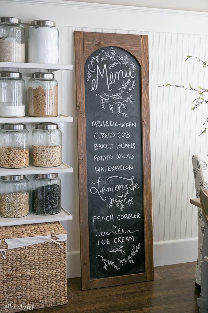 25 best ideas about menu chalkboard on pinterest for Chalkboard kitchen ideas