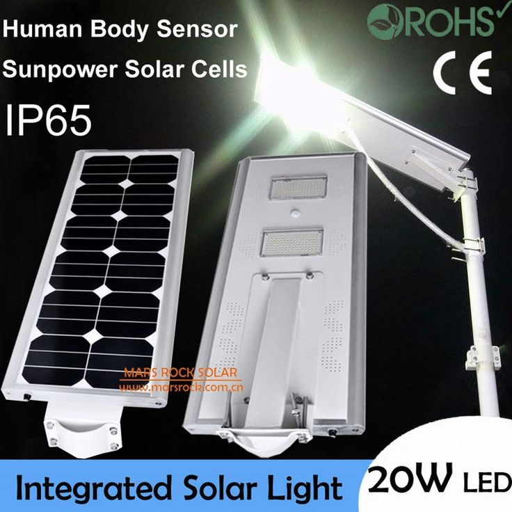 350.90$  Watch here - http://alisve.worldwells.pw/go.php?t=32462396031 - 20W LED Solar Power Street Light, 40W Solar Panel 18AH Battery All In One, Solar Sensor Light, Integrated Solar Outdoor Lighting 350.90$