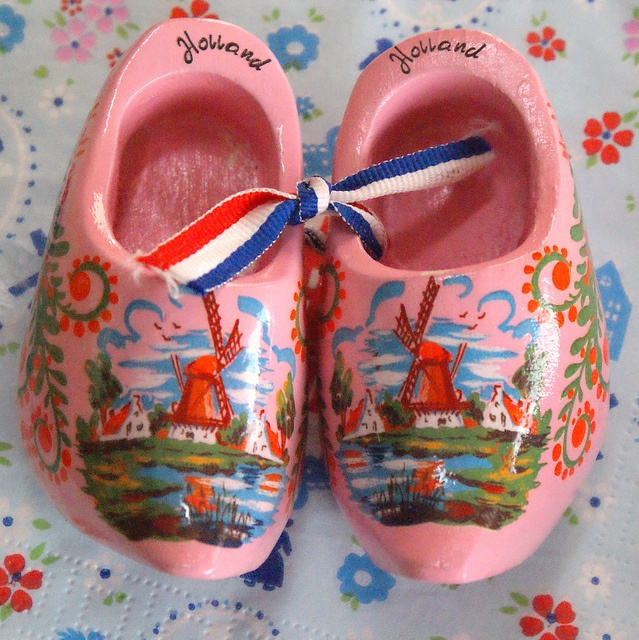pink wooden shoes | Flickr - Photo Sharing!
