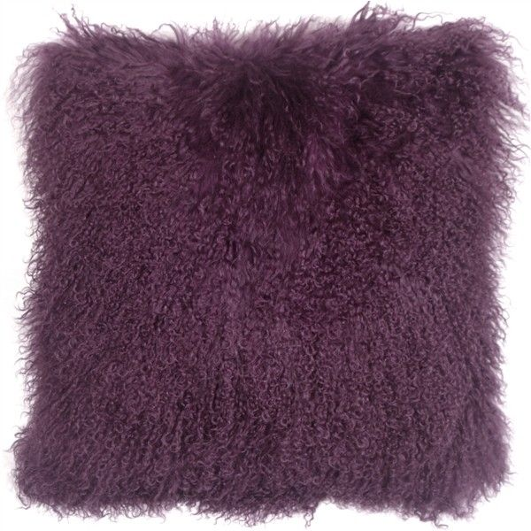 Mongolian Sheepskin Purple Throw Pillow (£55) ❤ liked on Polyvore featuring home, home decor, throw pillows, purple home decor, purple toss pillows, purple home accessories, purple throw pillows and purple accent pillows