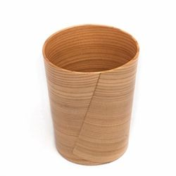 This is a beer cup made of Odate Bentwood work. It received the good design award and is a very good example of traditional Japanese craft applied to contemporary products.