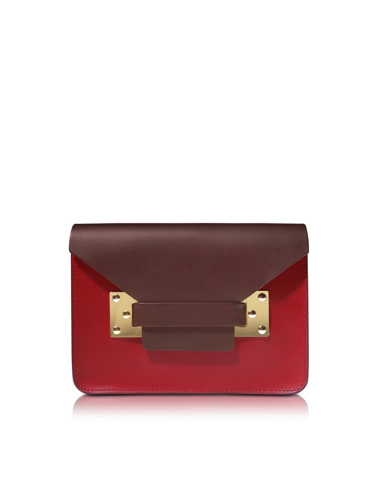 Sophie Hulme Colorblock Mini Leather Envelope Shoulder Bag at FORZIERI