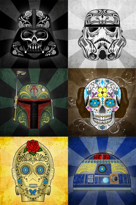 Dia De Los Muertos Star Wars. A perfect mix of the two of us :)
