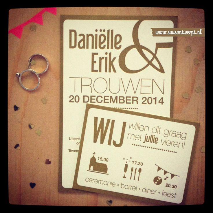 #Wedding announcement #letterpresskaartje #suusontwerpt #letterpress