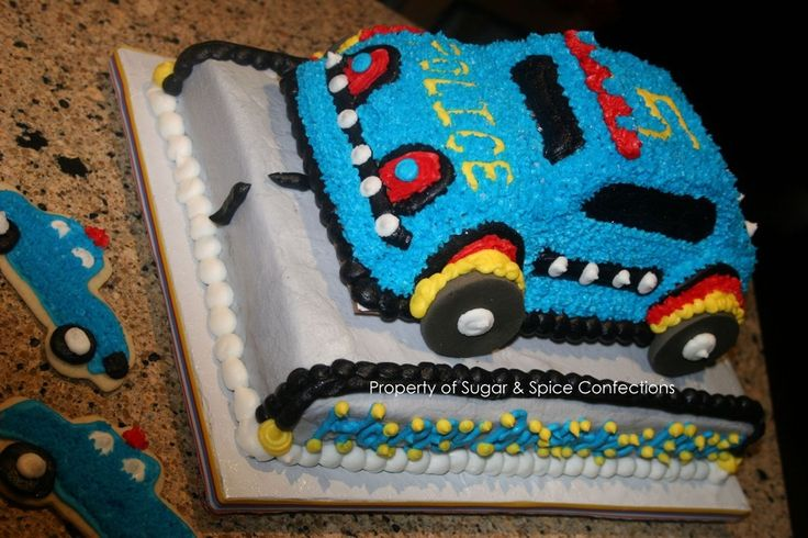 police car cakes pictures | Police Theme Cruiser Cake — Children's Birthday Cakes