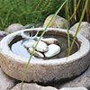 Create a Concrete Birdbath and all kinds of concrete planters.