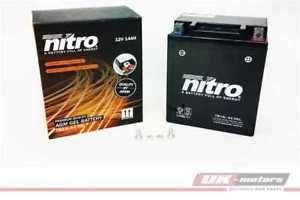 a yb14l a2 51411 nitro gel bateria gelbatterie bateria de moto yb14l a2gel n