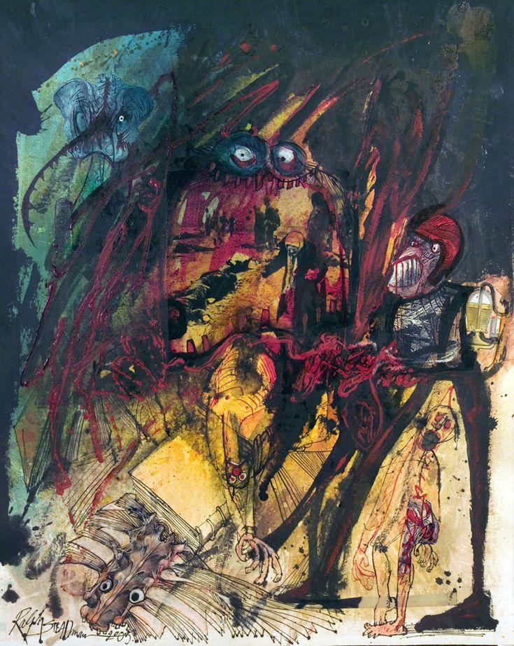 As raras ilustrações de Ralph Steadman para Fahrenheit 451 de Ray Bradbury