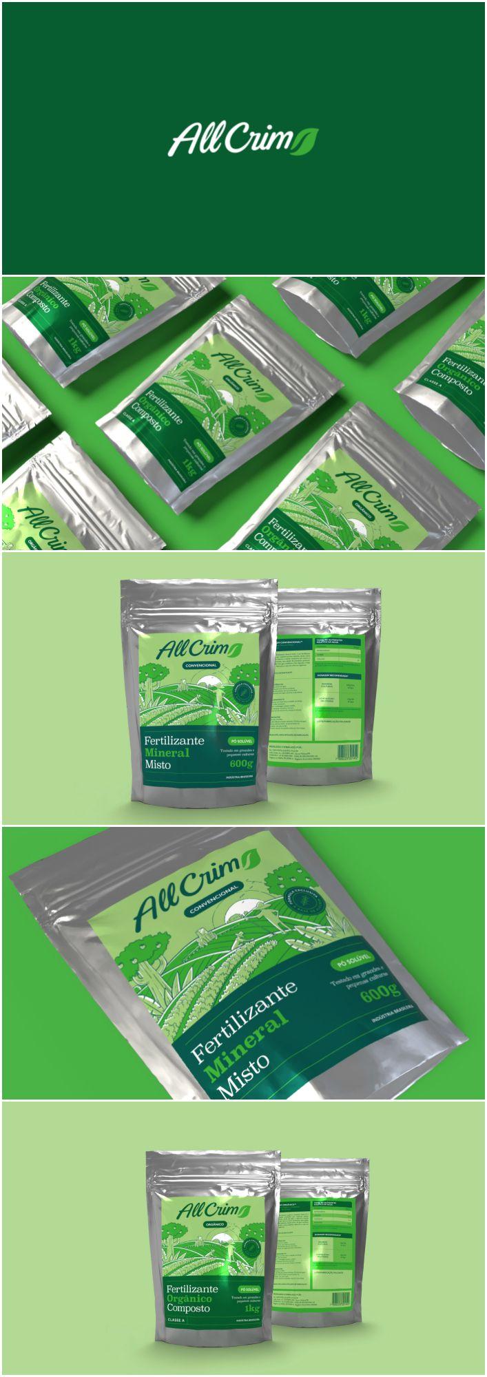 Packaging Design for Brazilian Fertiliser Brand Design Agency:Hearted Design & Strategy Brand / Project Name:All Crim Location:Brazil Category: #fertiliser #household #promotional  World Brand & Packaging Design Society