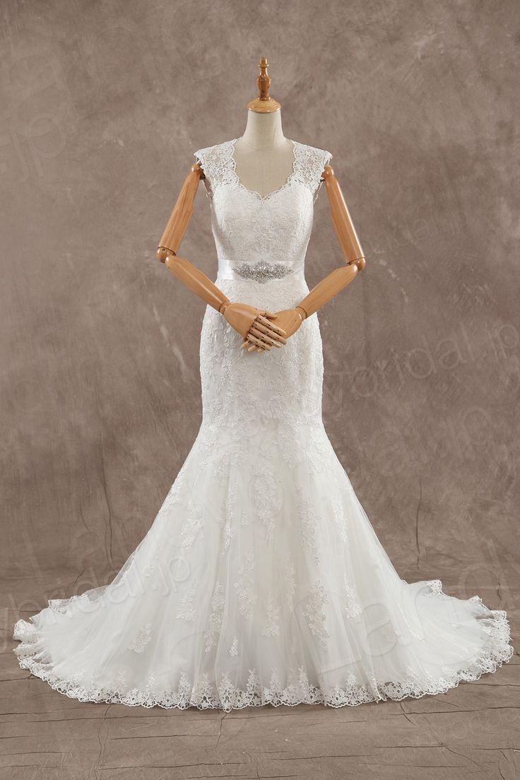 ウェディングドレス ハートネック マーメイド オープンバックのデザイン ベルト JWZT15002 価格 ¥63,180