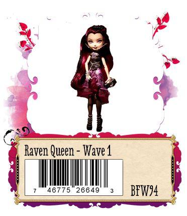Raven Queen daughter of the Evil Queen, exclusive to Justice Stores 2013