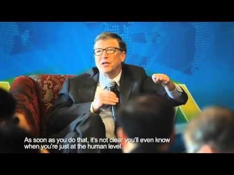 Baidu CEO Robin Li interviews Bill Gates and Elon Musk at the Boao Forum...