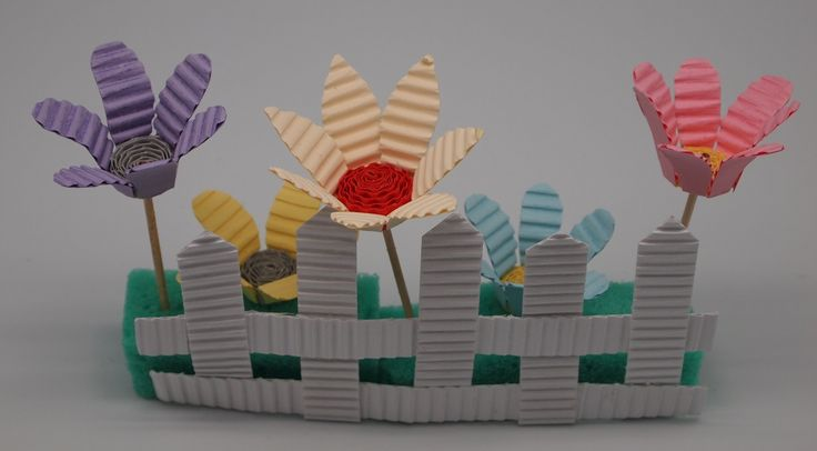 Flowers made from Kokoru Ichigo - Color corrugated.