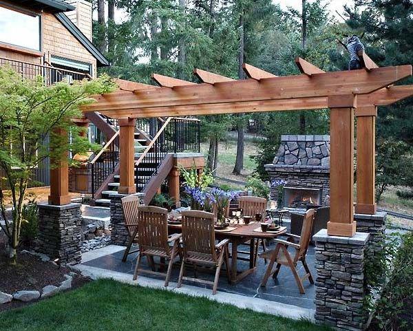 202 best patio ideas images on pinterest - Pergola Patio Ideas