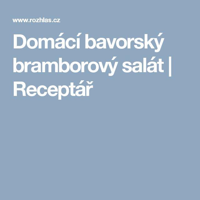 Domácí bavorský bramborový salát | Receptář