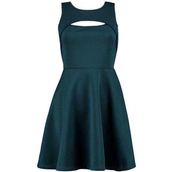 Boohoo Anna Cutout Sleeveless Dress ($20) ❤ liked on Polyvore featuring dresses, maxi dress, blue bodycon dress, sleeveless maxi dress, blue jersey and skater dress
