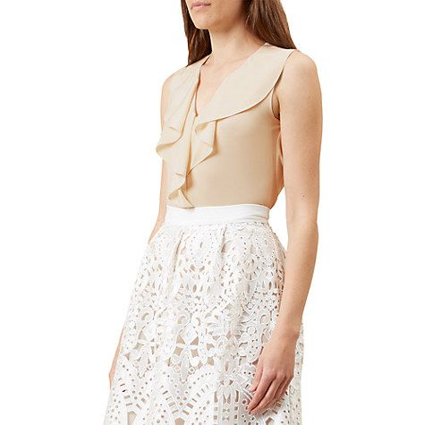 Buy Hobbs Emmie Sleeveless Silk Blouse, Oyster Online at johnlewis.com