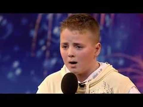 BGT show contestant sings Pie Jesu... He's been bullied by kids at school who don't like his singing and make fun of him - how does he deal with them? He carries on singing.