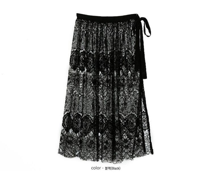 Aliexpress.com: Comprar 2015 mujeres del verano de Boho Sexy ganchillo cordón Floral hendidura falda de la playa de Faldas fiable proveedores en lover heart