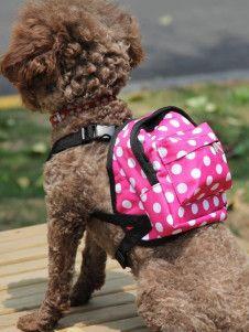 Mochila bonita Polka Dot Correa perro - YoElijoElPrecio.com