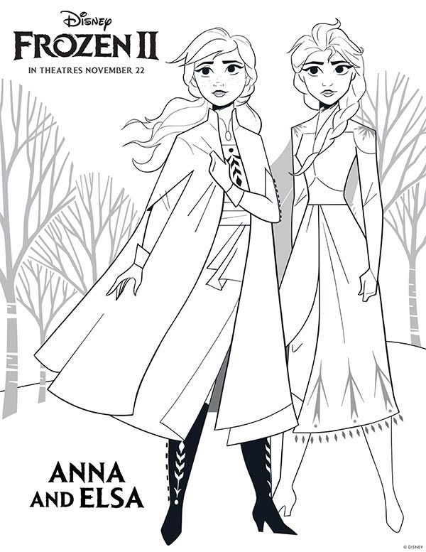 Free Printable Frozen 2 Coloring Pages And Activities Disney Princess Coloring Pages Free Disney Coloring Pages Princess Coloring Pages