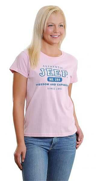 Jeep Clothing Authentic Jeep Tee in Pink   Quadratec