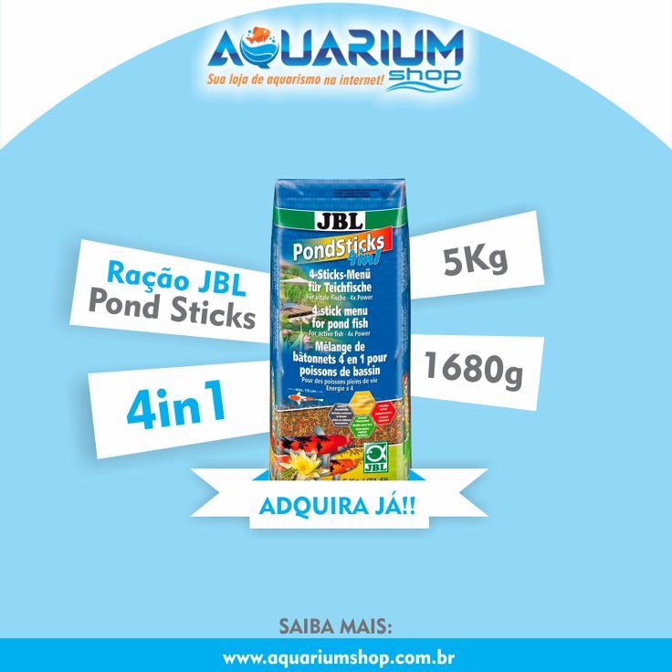Ração JBL Pond Sticks 4in1 - Confira na Aquarium Shop! www.aquariumshop.com.br/p-7392148-Racao-JBL-Pond-Sticks-4in1-5Kg
