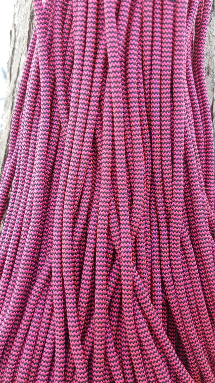 Stars and Strpes 550 Paracord Type III 7 Strand Nylon Parachute Cord Made in the USA Pink Electroshock by BrodsParacord on Etsy