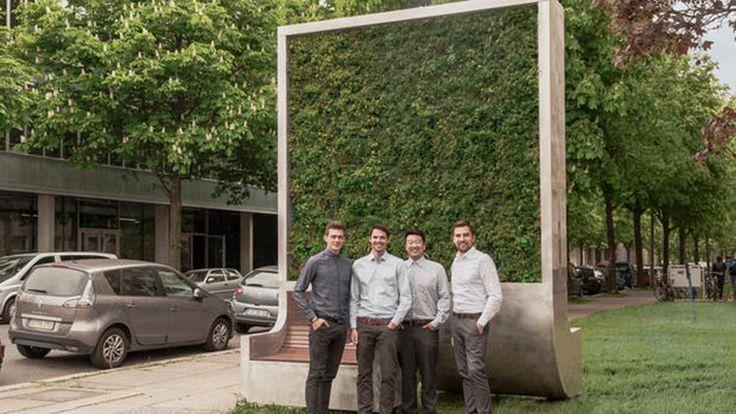 CityTree, el panel de musgo que absorbe la contaminación como si fuese 275 árboles