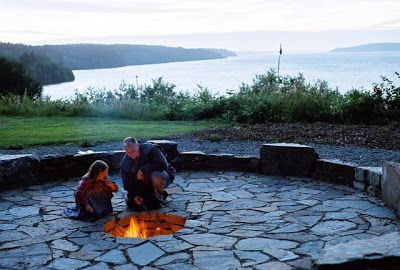 backyard fire pit - near the edge of the hill?