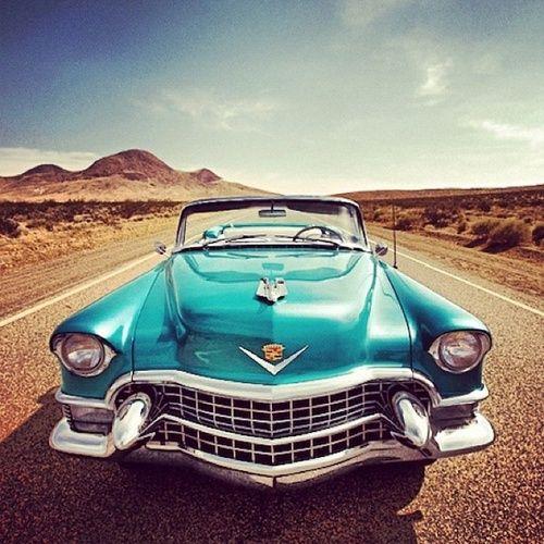 Vintage Blue Cadillac 1950s