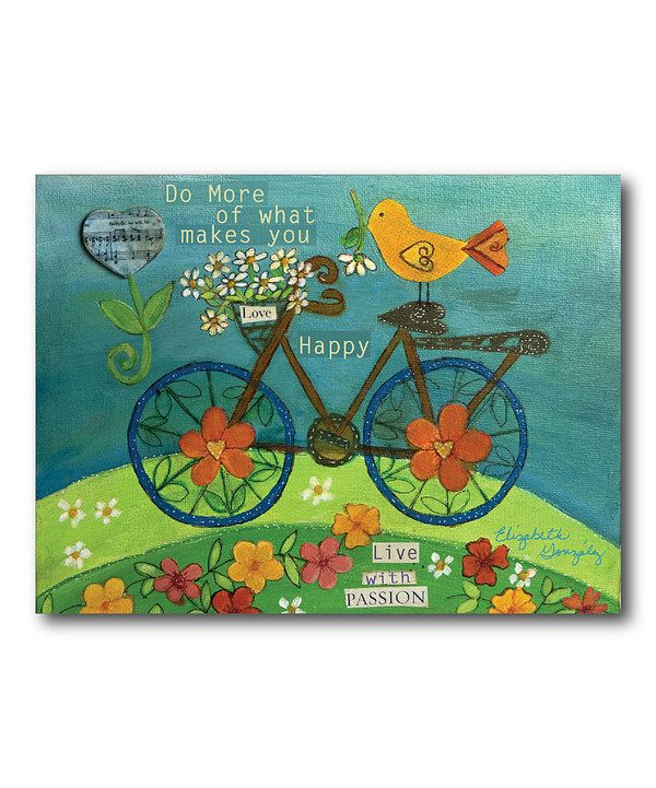 Take a look at this 'Live with Passion' Canvas Wall Art on zulily today!