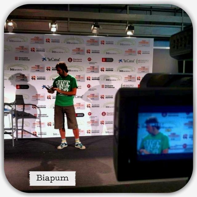 Presenting #biapum at #BizBarcelona