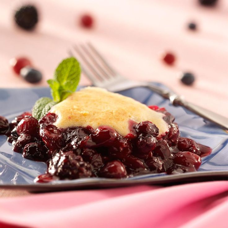 Triple-Berry Cobbler Recipe -I combined several recipes to come up with this one. It's very versatile. Sometimes I use other fruits depending on what is available or on hand. —Edna Woodard, Fredericksburg, Texas